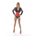 Red Leather W/cincher Corset*